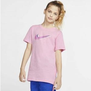 T-Shirt Ragazzi Rosa Nike Sportswear Triple Swoosh Kids Tee art. CU4572 654