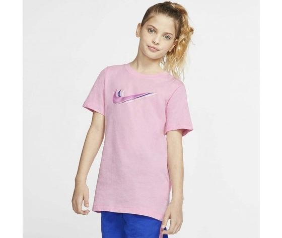 T shirt ragazzi rosa nike sportswear triple swoosh kids tee art. cu4572 654