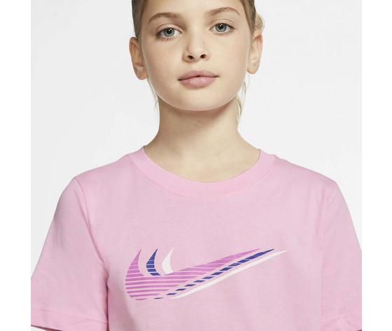 T shirt ragazzi rosa nike sportswear triple swoosh kids tee art. cu4572 654 1