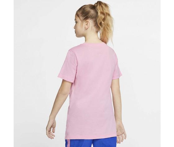 T shirt ragazzi rosa nike sportswear triple swoosh kids tee art. cu4572 654 2