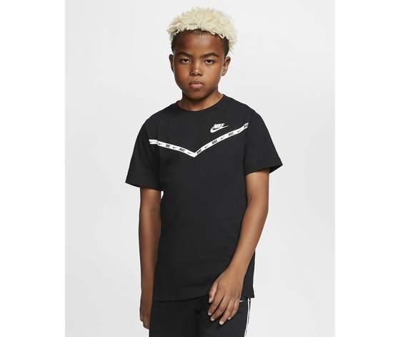 T shirt nera bambino nike sportwear chevron art. cv2167 010