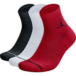Calze Jordan Quarter Corte Multicolore Rosso Bianco Nero art. SX5544 011