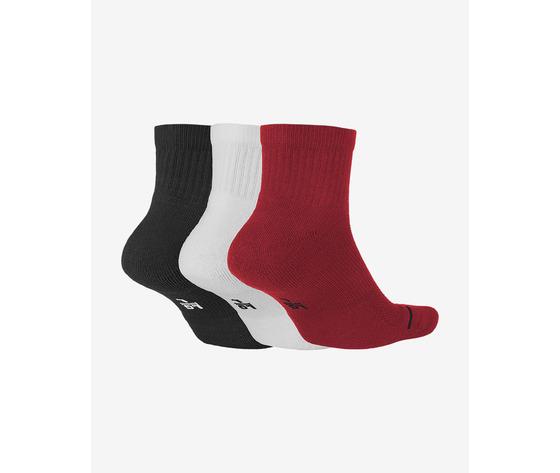 Calze jordan quarter corte multicolore rosso bianco nero art. sx5544 011 1
