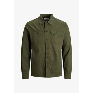 Camicia Oliva Worker In Tela Jack & Jones Jcoben art. 12178913 OL