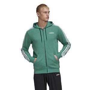 Felpa Con Cappuccio Adidas Essentials Verde Full Zip 3 Stripes art. FM6090