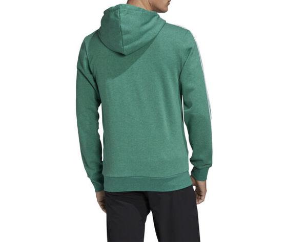 Felpa con cappuccio adidas essentials verde full zip 3 stripes art. fm6090 2