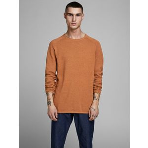 Maglione Girocollo Jack & Jones Regular Arancio Tinta Unita art. 12157321 AR