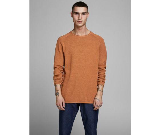 Maglione girocollo jack   jones regular arancio tinta unita art. 12157321 ar