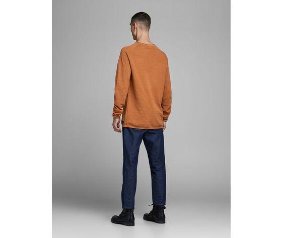 Maglione girocollo jack   jones regular arancio tinta unita art. 12157321 ar 1