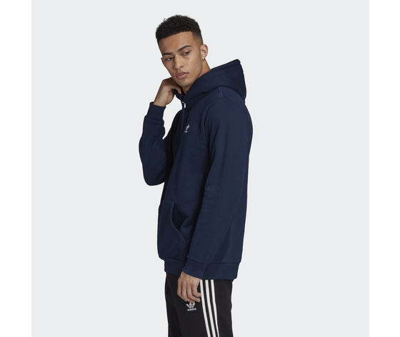 Felpa con cappuccio adidas originals navy blu hoodie trefoil essentials art. gd2559 1