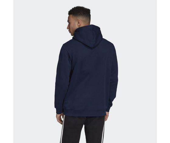 Felpa con cappuccio adidas originals navy blu hoodie trefoil essentials art. gd2559 2
