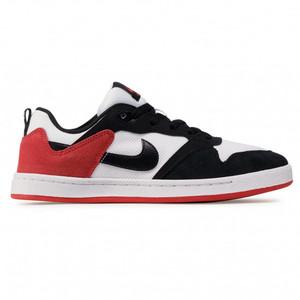 Scarpe Uomo Nike SB Alleyoop Sneakers Basse Bianco Nero Rosso art. CJ0882 102