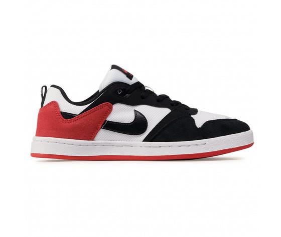 Scarpe uomo nike sb alleyoop %28gs%29 sneakers basse bianco nero rosso art. cj0883 102 %283%29