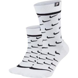 Calze Nike Sportswear Snkr Sox Bianche Logo art. CK5607 100
