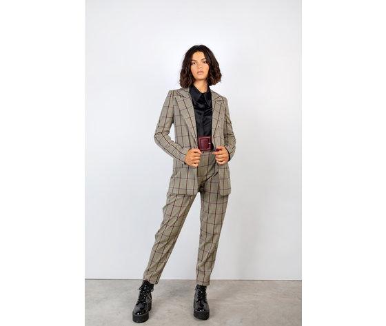 Pantalone donna york panna fantasia a quadri face to face art. p306 p %282%29
