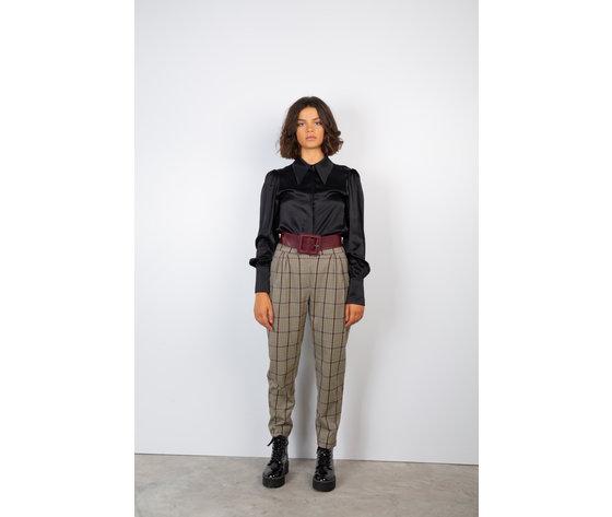 Pantalone donna york panna fantasia a quadri face to face art. p306 p %281%29