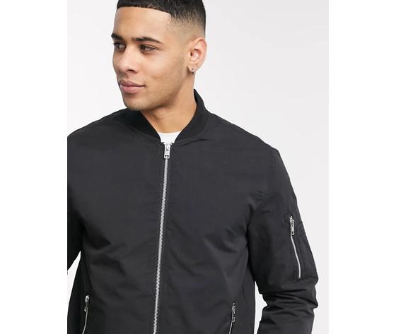 Jack   jones giacca da aviatore classica nero art. 12165203 ner %283%29