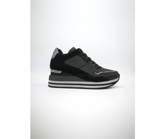 Apepazza Sneakers Donna Hilary Con Zeppa Nero art. F0HIGHRUN08 NER