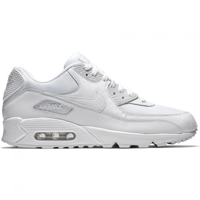 enorme sconto 01d99 0c2ba Nike Air Max 90 Scarpe Sneakers Bianche Pelle/Tela Art. 537384 111