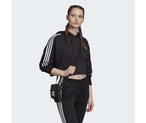 Felpa con cappuccio nera adidas hoodie cropped art. ed7554