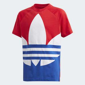 T-Shirt Bambino Adidas Trefoil Large Rosso Bianco Blu art. GE1973