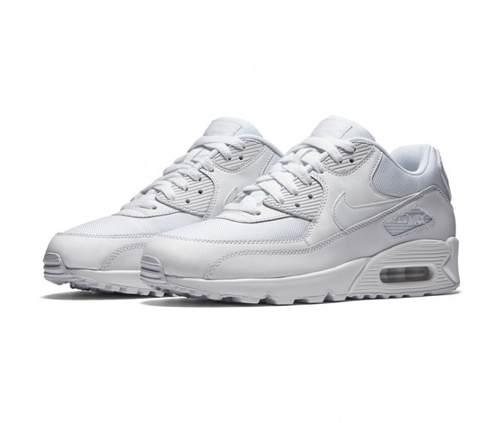 Nike Air Max 90 Scarpe Sneakers Bianche Pelle/Tela Art. 537384 111 ...