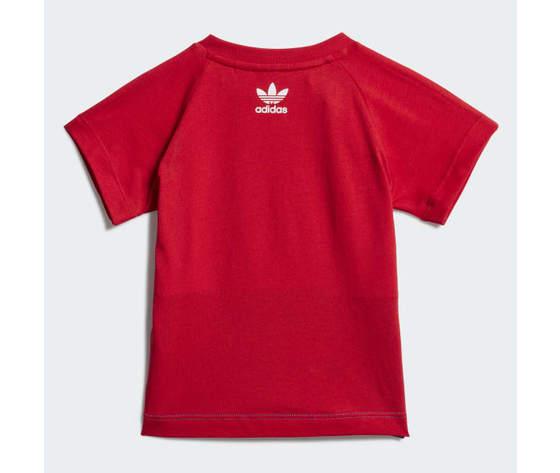 T shirt bambino adidas trefoil large rosso bianco blu art. ge1968 1