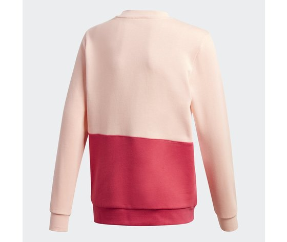 Felpa bambina rosa adidas large trefoil crew art. gd2718 1
