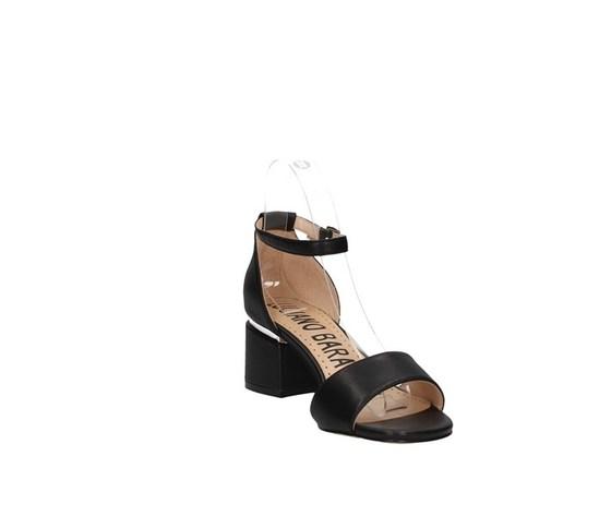 Sandalo nero tacco basso luciano barachini art. ee144l 1