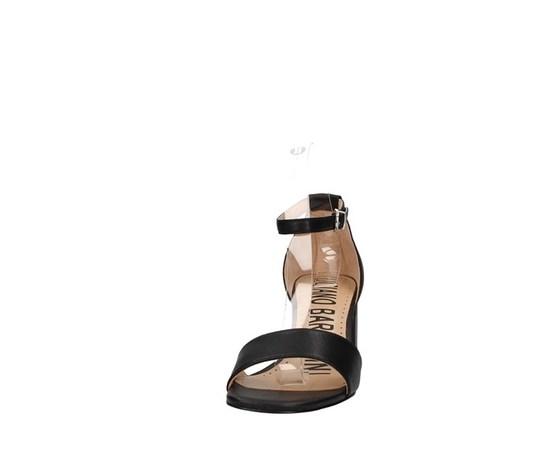 Sandalo nero tacco basso luciano barachini art. ee144l 2