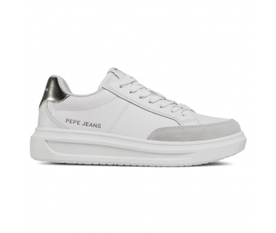 Pepe jeans scarpe donna bianche abbey top art. pls31052 801