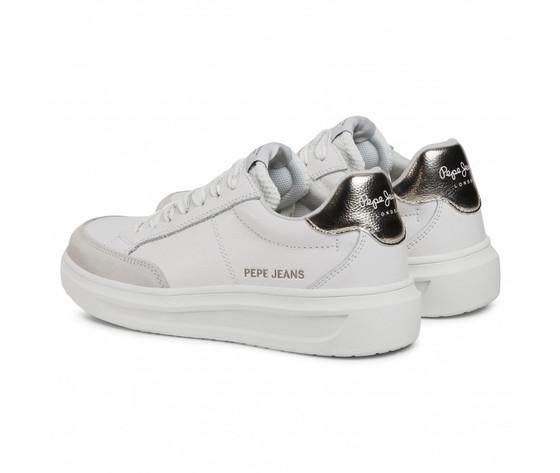 Pepe jeans scarpe donna bianche abbey top art. pls31052 801 1