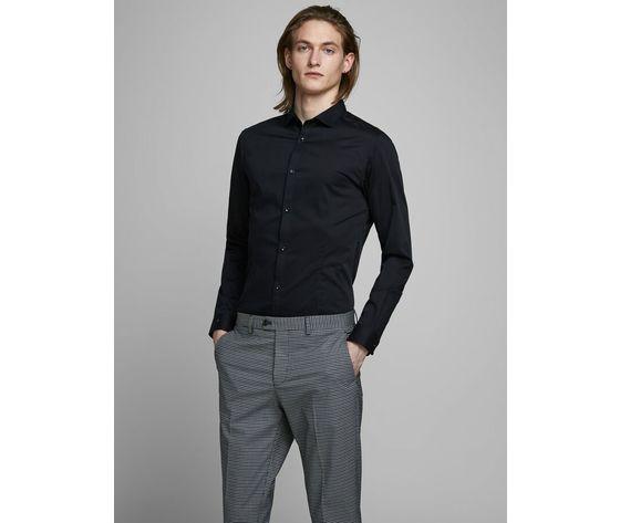 Jack jones camicia classica nera super slim art.12097662 n