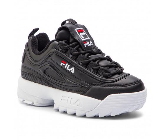 Sneakers fila disruptor kids nero bambino art. 1010567.25y 1