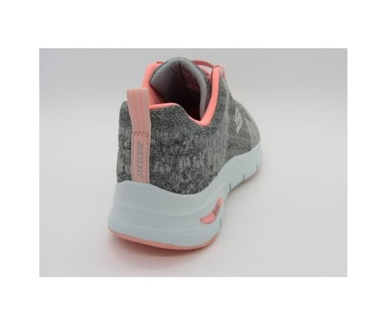 Skechers scarpe da ginnastica grigio donna art. 149414 gypk 2