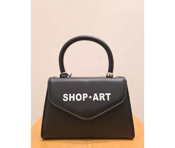 Shop art mini borsa nera ecopelle art. sa030162 ner