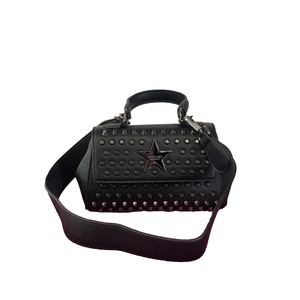 Shop Art Borsa Mini Nera Con Borchie Argento art. SA030154