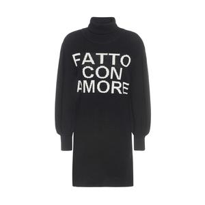 """Giulia N Abito Donna Nero Maxy  Pullover """"Fatto Con Amore"""" art. GI2030"""