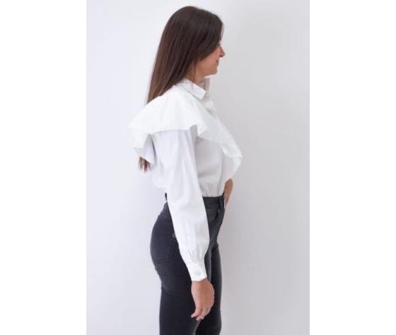 Giulia n body camicia donna con rouches panna art. gi2037 1