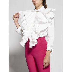 Giulia N Body Camicia Donna Con Rouches Panna art. GI2037