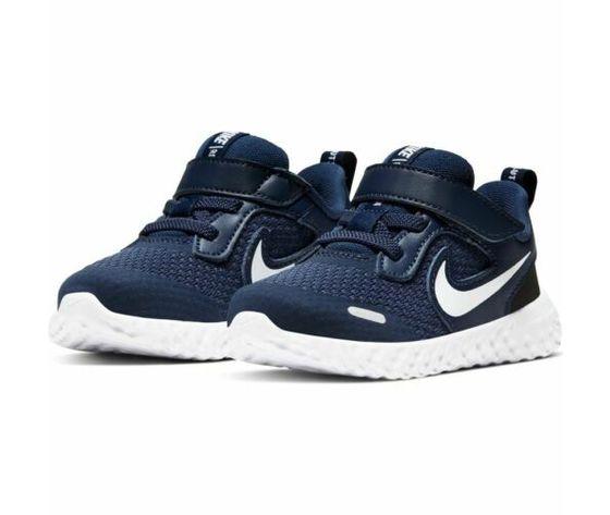 Scarpe sportive bambino nike revolution 5 blu bianco mesh art. bq5673 402 3