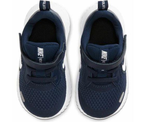 Scarpe sportive bambino nike revolution 5 blu bianco mesh art. bq5673 402 2