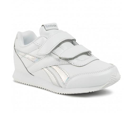 Scarpa reebok royal classic jogger 2.0 bambini in pelle bianca art .dv9021 2