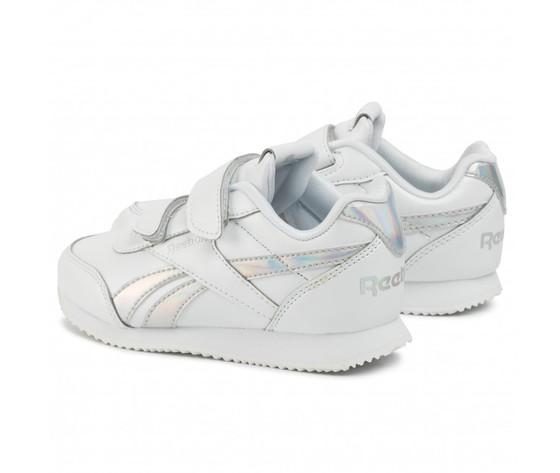 Scarpa reebok royal classic jogger 2.0 bambini in pelle bianca art .dv9021 1