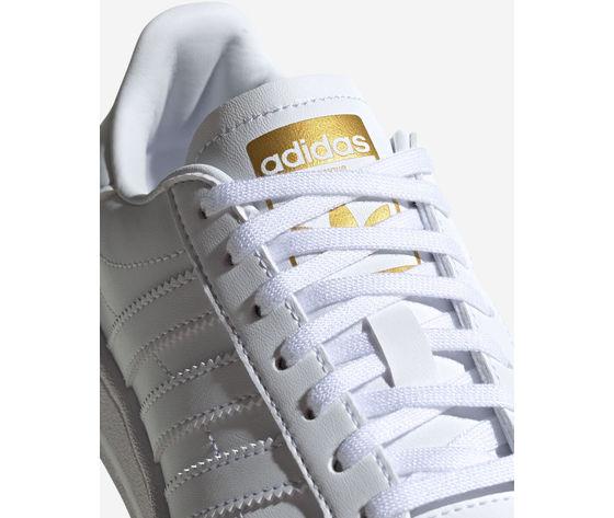 Scarpe adidas team court bianche in pelle  art. ef6809  2