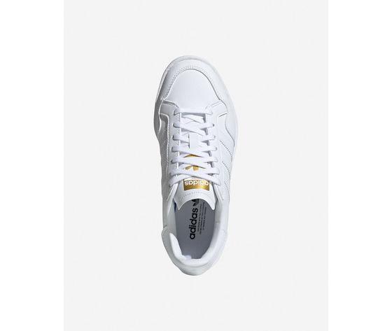 Scarpe adidas team court bianche in pelle  art. ef6809  1