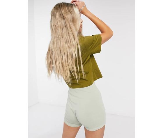 Nike crop verde essential donna maglia corta sportswear art. bv6175 368 %281%29
