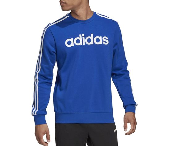 Felpa adidas blu con strisce bianche essentials 3 stripes art. gd5384