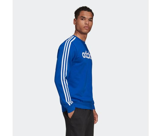 Felpa adidas blu con strisce bianche essentials 3 stripes art. gd5384 4