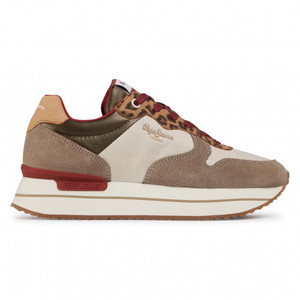 Scarpe donna Pepe Jeans Sneakers Rusper Leo Camel Leopardato  art. PLS31070 855